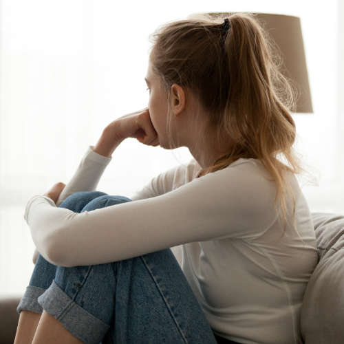 Pensive Teen